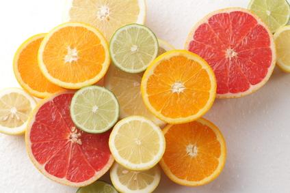 みかん、グレープフルーツ、レモンの画像