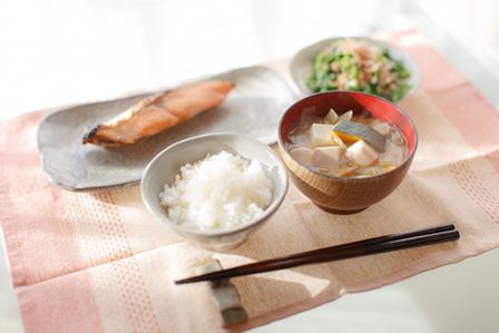 焼鮭定食の画像