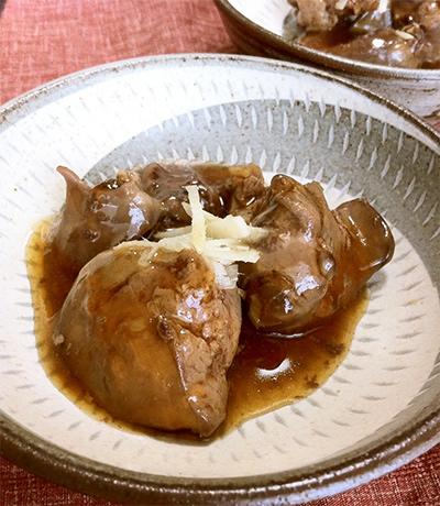鶏レバーの甘辛煮の画像
