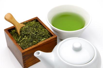 日本茶の煎茶の画像