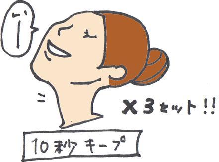 首のシワを伸ばすストレッチ