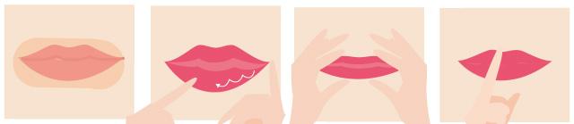 唇のマッサージの画像