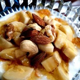 pms対策に♪バナナナッツヨーグルトの画像
