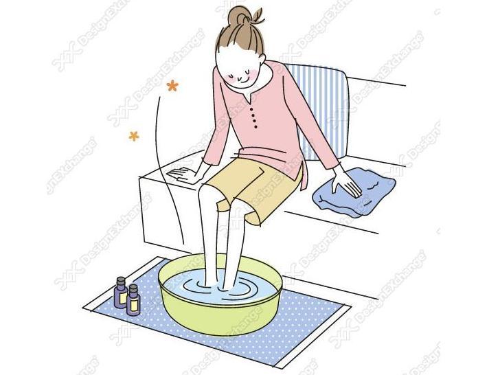 足湯の画像