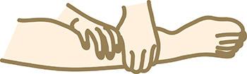 ふくろはぎのマッサージの画像