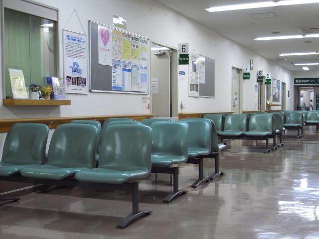 病院の待合室の画像