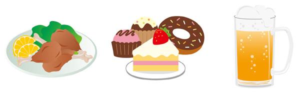 控える食事の画像