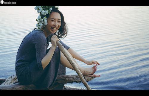 女性と水の画像