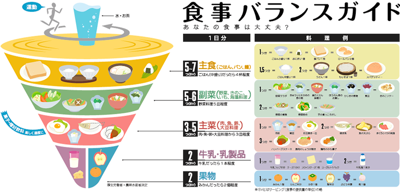 食事バランスガイドの画像