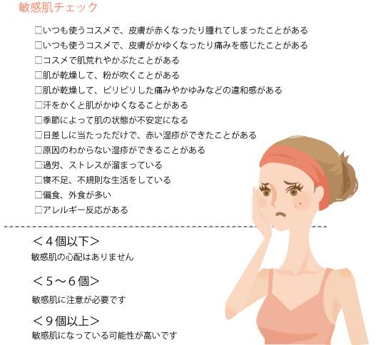 敏感肌のチェックの画像