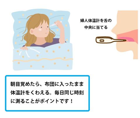 基礎体温の測り方の画像