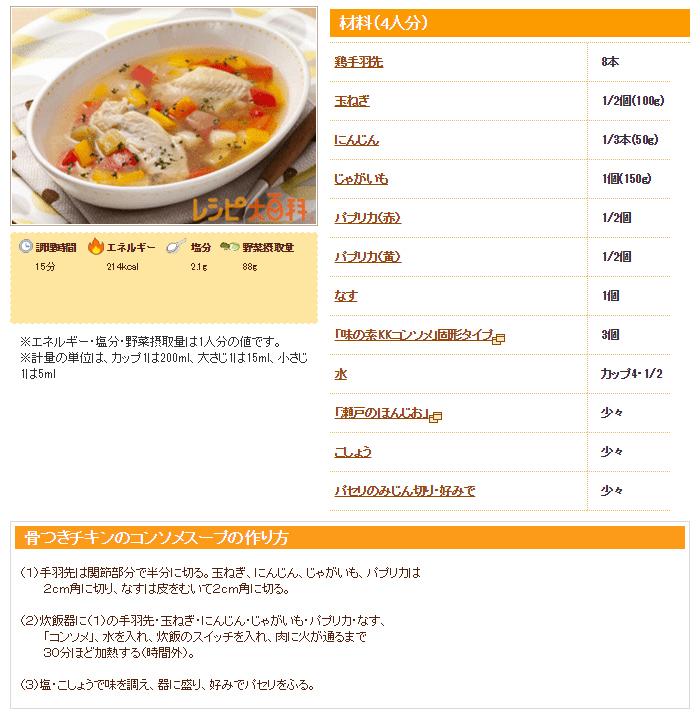 チキンのレシピの画像