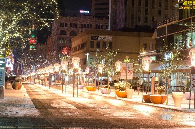 冬の街並みの画像