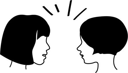 鼻毛を見つける女性の画像