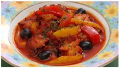 たこのトマト煮の画像