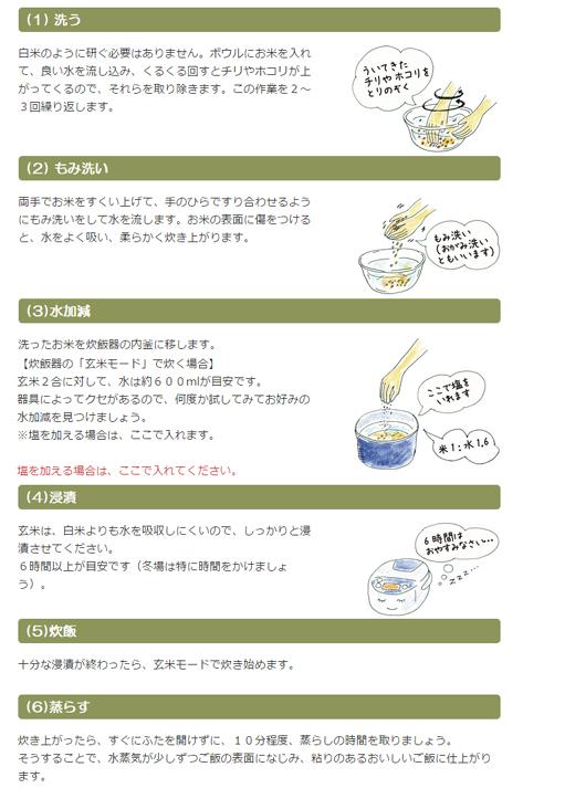 玄米の炊き方の画像