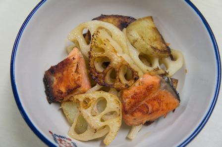 鮭と野菜のこんがり焼きの画像