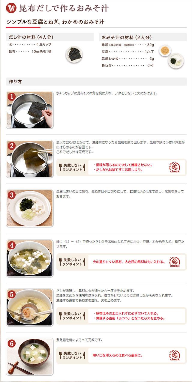 おいしいみそ汁の作り方の画像
