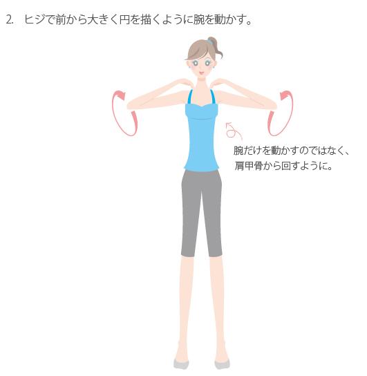 肩甲骨をまわすストレッチ2の画像
