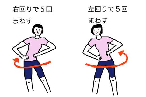 便秘解消体操の画像