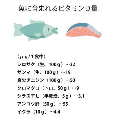 魚からとるビタミンDの画像