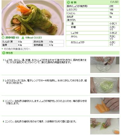 豚肉しょうが焼きの野菜巻きの画像