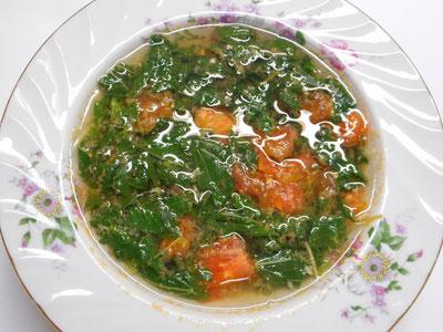 モロヘイヤスープの画像