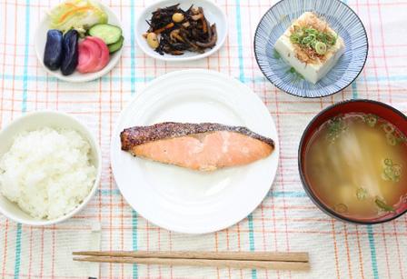 鮭定食の画像