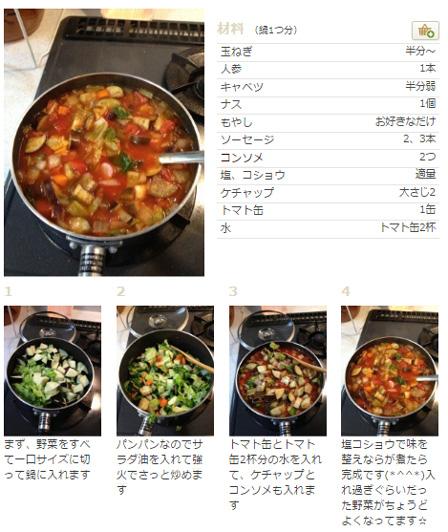 野菜たっぷりトマトスープの画像