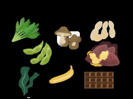 カリウムを多く含む食材の画像
