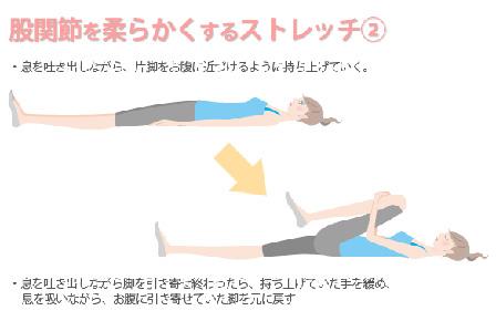 股関節を柔らかくするストレッチの画像