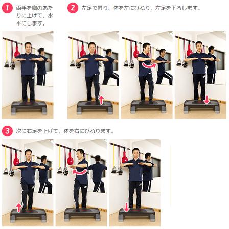 腹筋に効く踏み台昇降の画像