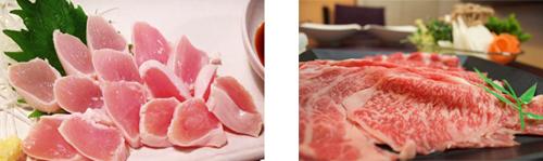 ささみと牛肉の画像