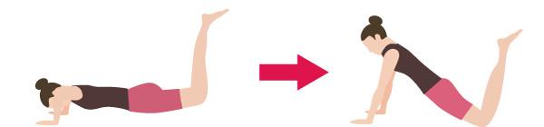 二の腕とバストアップのスロートレーニングの画像