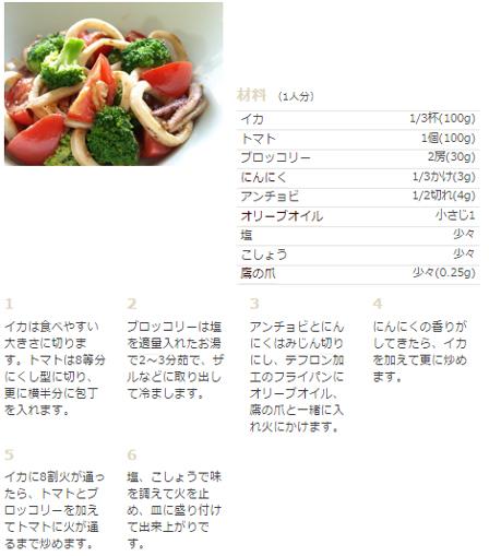イカとトマトの炒め物の画像