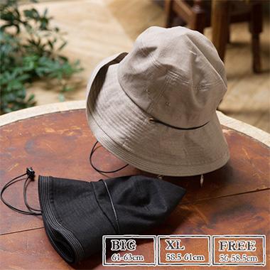 UVカット帽子の画像