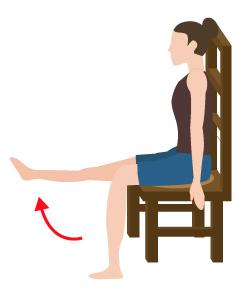 座りながら出来るエクササイズの画像