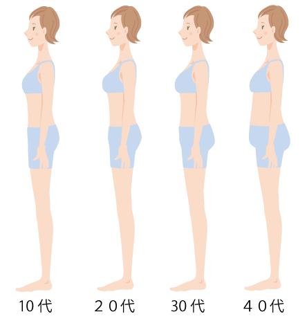 年代別体型の画像