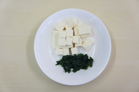味噌汁の具材の画像