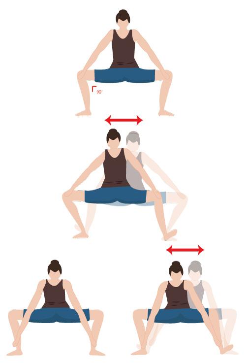 腸腰筋を軟らかくするストレッチの画像