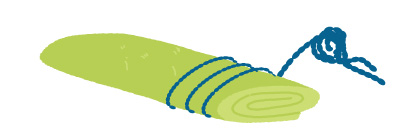 手作りのストレッチポールの画像