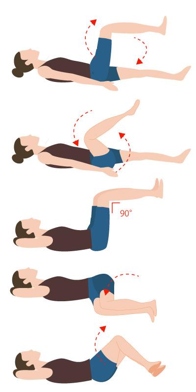 寝ながら股関節ストレッチの画像
