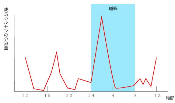 成長ホルモンのグラフの画像