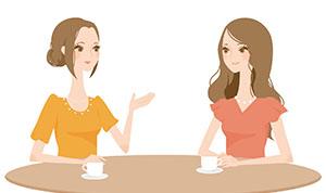 女性カフェの画像