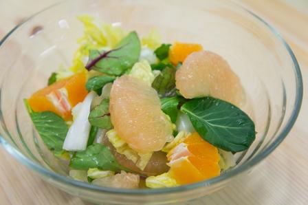 白菜とグレープフルーツのサラダ漬けの画像