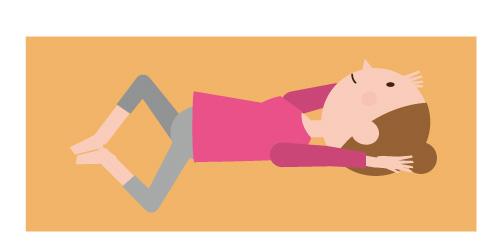 大腰筋を活性化させる姿の画像