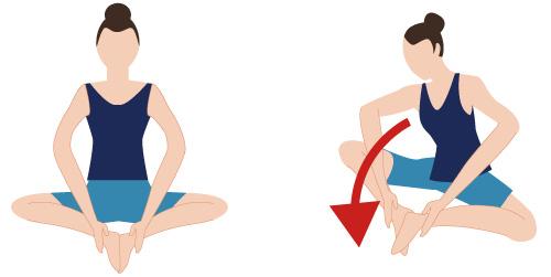 股関節のストレッチの画像