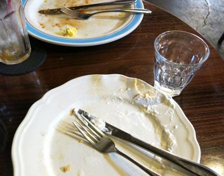 食後の画像