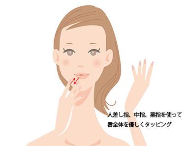唇タッピングの画像