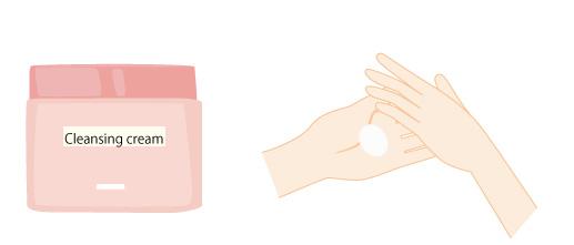 クレンジングクリームを温めるの画像
